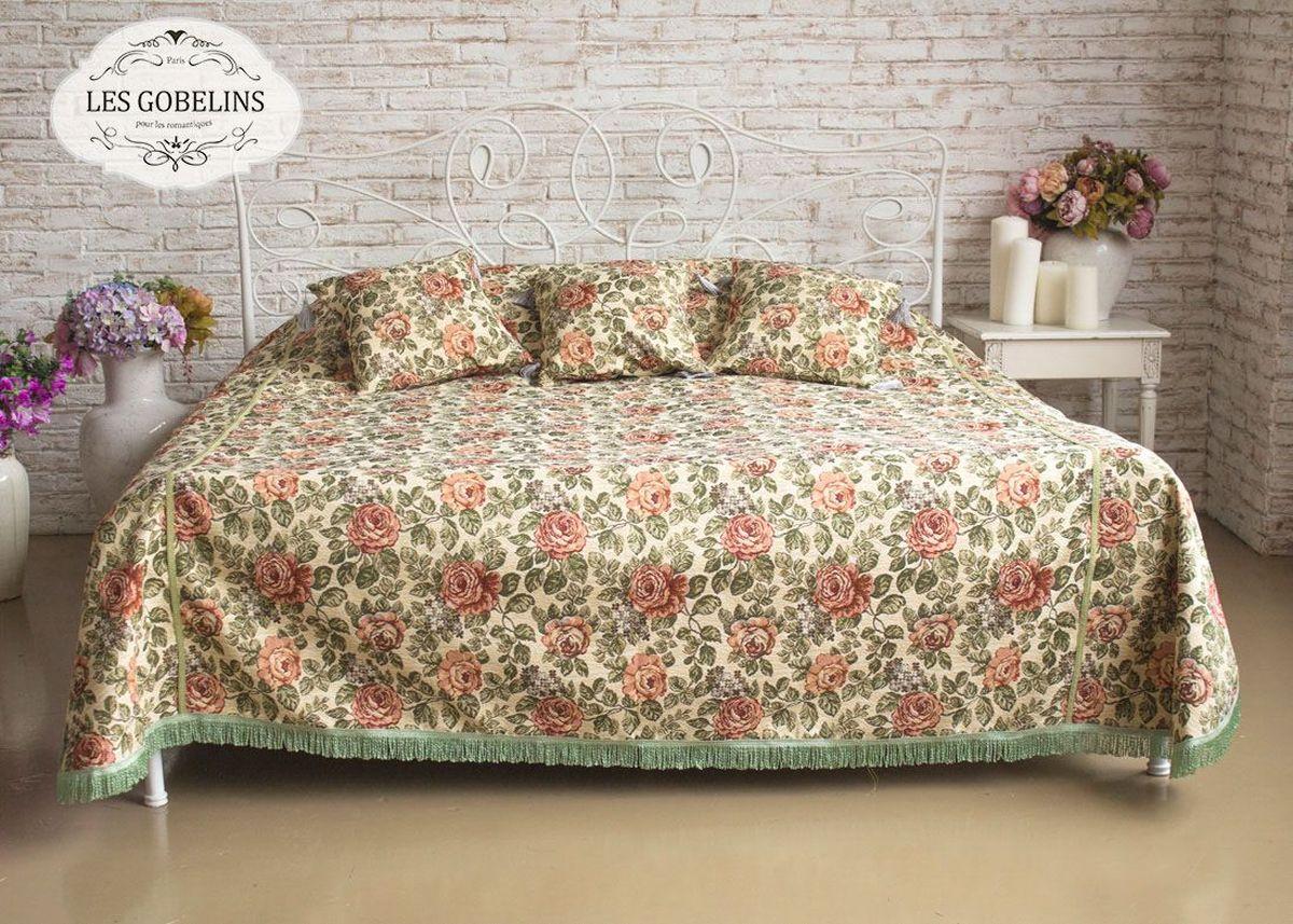 Покрывало на кровать Les Gobelins Art Floral, 260 х 240 смlns186991Покрывало на кровать Les Gobelins Art Floral с ярким цветочным рисунком привлечет к себе внимание и органично впишется в интерьер комнаты. Изделие изготовлено из высококачественной ткани гобелен и оформлено бахромой и кисточками. Необычайная красота сочетается в этом покрывале с высокой прочностью и долговечностью, а свойство гобелена по-разному проявлять себя в зависимости от освещения помещения позволяет открывать все новые и новые детали, которые, как казалось, раньше скрывал гобелен.Красочное и приятное на ощупь покрывало сделает интерьер спальни, детской или гостиной уютнее и своеобразнее. Состав материала: 52% хлопок, 48% полиэстер.