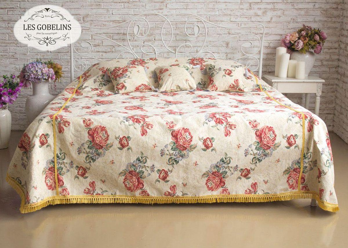 Покрывало на кровать Les Gobelins Cleopatra, 240 х 220 смlns187772Покрывало на кровать Les Gobelins Cleopatra с ярким цветочным рисунком привлечет к себе внимание и органично впишется в интерьер комнаты. Изделие изготовлено из высококачественной ткани гобелен и оформлено бахромой и кисточками. Необычайная красота сочетается в этом покрывале с высокой прочностью и долговечностью, а свойство гобелена по-разному проявлять себя в зависимости от освещения помещения позволяет открывать все новые и новые детали, которые, как казалось, раньше скрывал гобелен.Красочное и приятное на ощупь покрывало сделает интерьер спальни, детской или гостиной уютнее и своеобразнее. Состав материала: 52% хлопок, 48% полиэстер.