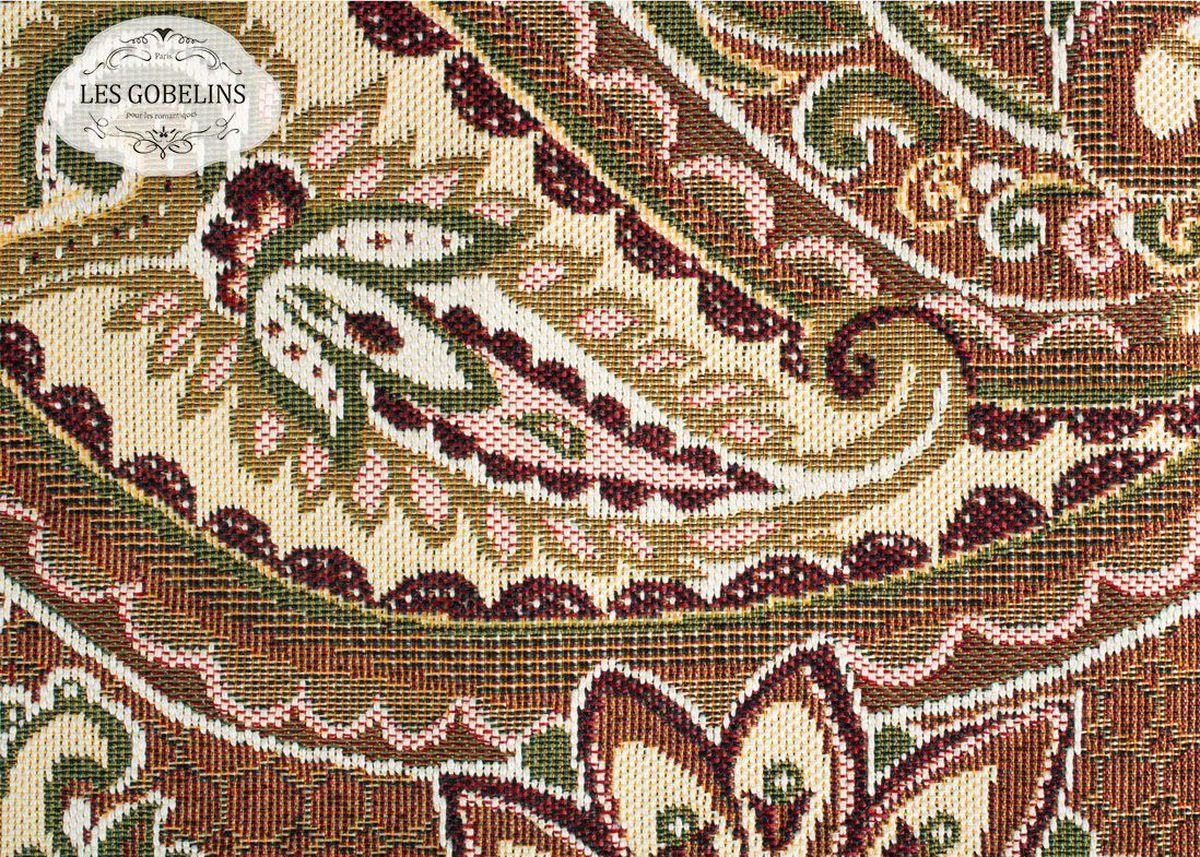 Покрывало на диван Les Gobelins Vostochnaya Skazka, 160 х 230 смMF-6W-12/230Покрывало на диван Les Gobelins Vostochnaya Skazka с ярким орнаментом привлечет к себе внимание и органично впишется в интерьер комнаты. Изделие изготовлено из высококачественной ткани гобелен и оформлено бахромой и кисточками. Необычайная красота сочетается в этом покрывале с высокой прочностью и долговечностью, а свойство гобелена по-разному проявлять себя в зависимости от освещения помещения позволяет открывать все новые и новые детали, которые, как казалось, раньше скрывал гобелен.Красочное и приятное на ощупь покрывало сделает интерьер спальни, детской или гостиной уютнее и своеобразнее. Состав материала: 52% хлопок, 48% полиэстер.