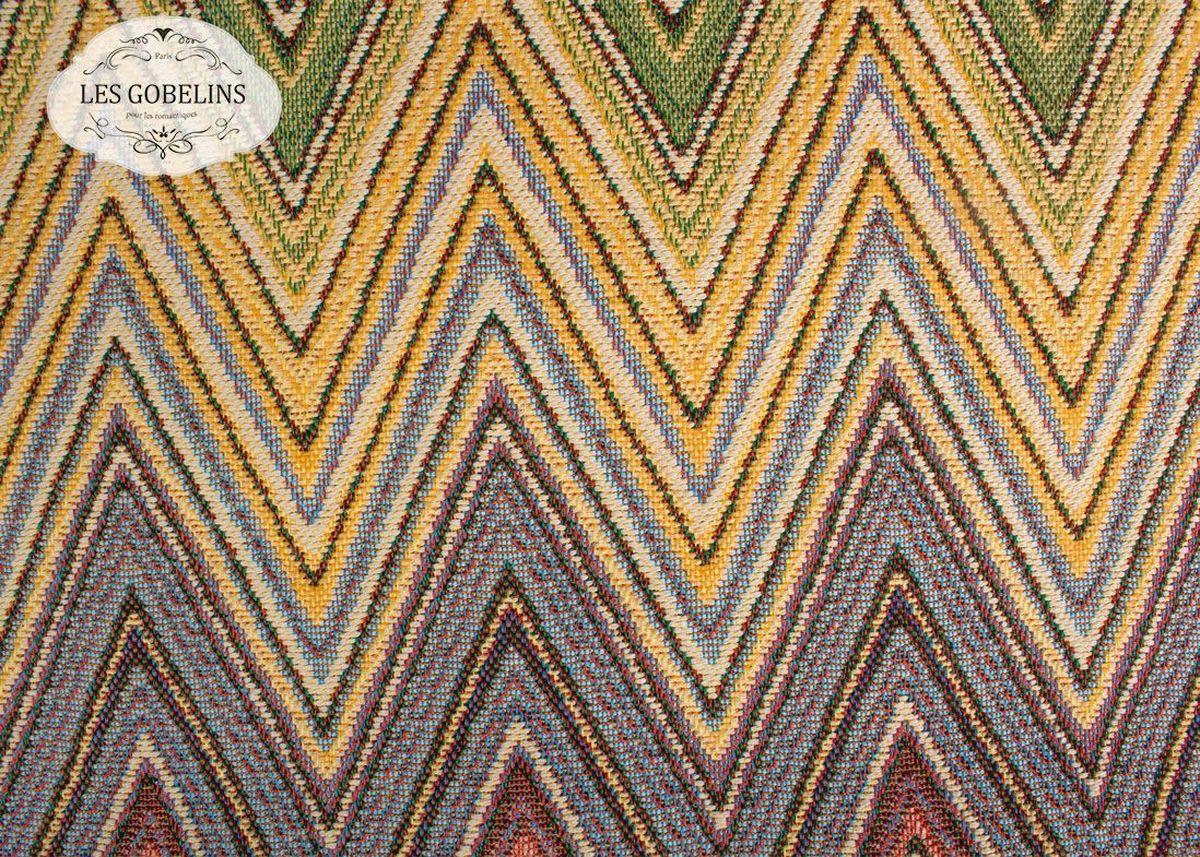 Покрывало на диван Les Gobelins Cordillere, 160 х 200 см12245Покрывало на диван Les Gobelins Cordillere с ярким геометрическим рисунком привлечет к себе внимание и органично впишется в интерьер комнаты. Изделие изготовлено из высококачественной ткани гобелен и оформлено бахромой и кисточками. Необычайная красота сочетается в этом покрывале с высокой прочностью и долговечностью, а свойство гобелена по-разному проявлять себя в зависимости от освещения помещения позволяет открывать все новые и новые детали, которые, как казалось, раньше скрывал гобелен.Красочное и приятное на ощупь покрывало сделает интерьер спальни, детской или гостиной уютнее и своеобразнее. Состав материала: 52% хлопок, 48% полиэстер.