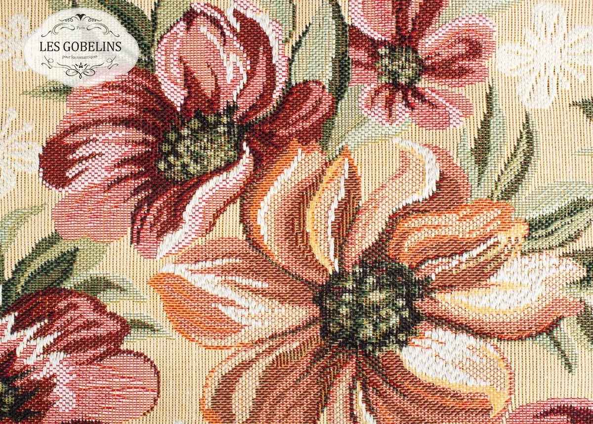 Покрывало на диван Les Gobelins Coquelicot, 160 х 200 см96515412Покрывало на диван Les Gobelins Coquelicot с ярким цветочным рисунком привлечет к себе внимание и органично впишется в интерьер комнаты. Изделие изготовлено из высококачественной ткани гобелен и оформлено бахромой и кисточками. Необычайная красота сочетается в этом покрывале с высокой прочностью и долговечностью, а свойство гобелена по-разному проявлять себя в зависимости от освещения помещения позволяет открывать все новые и новые детали, которые, как казалось, раньше скрывал гобелен.Красочное и приятное на ощупь покрывало сделает интерьер спальни, детской или гостиной уютнее и своеобразнее. Состав материала: 48% хлопок, 52% полиэстер.