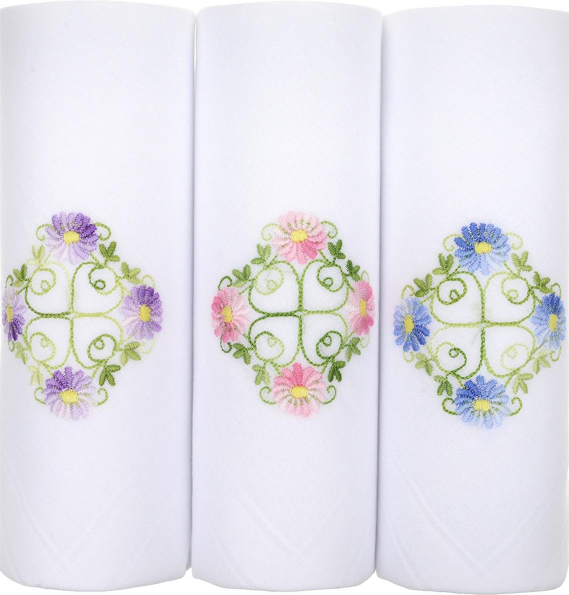 Платок носовой женский Zlata Korunka, цвет: белый, 3 шт. 06601-11. Размер 30 см х 30 см39864|Серьги с подвескамиНебольшой женский носовой платок Zlata Korunka изготовлен из высококачественного натурального хлопка, благодаря чему приятен в использовании, хорошо стирается, не садится и отлично впитывает влагу. Практичный и изящный носовой платок будет незаменим в повседневной жизни любого современного человека. Такой платок послужит стильным аксессуаром и подчеркнет ваше превосходное чувство вкуса.В комплекте 3 платка.