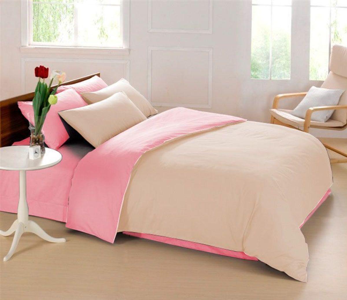 Комплект белья Sleep iX Perfection, семейный, наволочки 50х70, 70х70,цвет: розовый, бежевыйDAVC150Комплект постельного белья Sleep iX Perfection состоит из двух пододеяльников, простыни и четырех наволочек. Предметы комплекта выполнены из абсолютно гипоаллергенной микрофибры, неприхотливой в уходе.Благодаря такому комплекту постельного белья вы сможете создать атмосферу уюта и комфорта в вашей спальне.Известно, что цвет напрямую воздействует на психологическое и физическое состояние человека. Бежевый – обладает внутренней теплотой, заряжает положительной энергетикой и способствует формированию душевной гармонии. Человек ощущает себя в окружении бежевого цвета очень спокойно. Розовый – нежный и сентиментальный цвет. Обеспечивает здоровый сон, способствует мышечному расслаблению, успокаивает нервную систему.