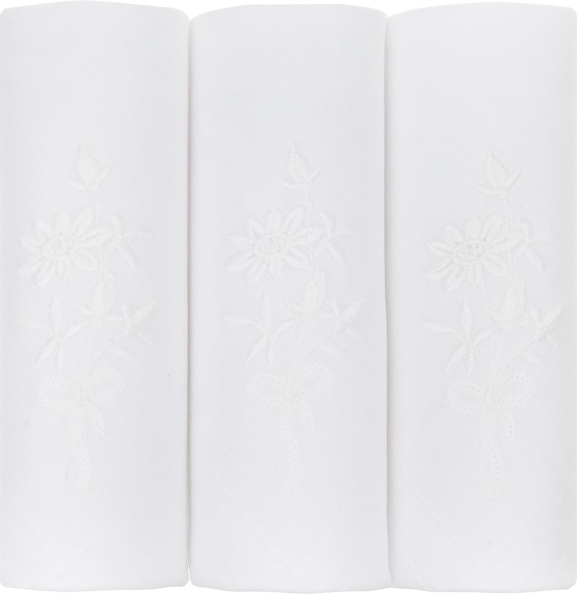 Платок носовой женский Zlata Korunka, цвет: белый, 3 шт. 06601-1. Размер 30 см х 30 смСерьги с подвескамиНебольшой женский носовой платок Zlata Korunka изготовлен из высококачественного натурального хлопка, благодаря чему приятен в использовании, хорошо стирается, не садится и отлично впитывает влагу. Практичный и изящный носовой платок будет незаменим в повседневной жизни любого современного человека. Такой платок послужит стильным аксессуаром и подчеркнет ваше превосходное чувство вкуса.В комплекте 3 платка.