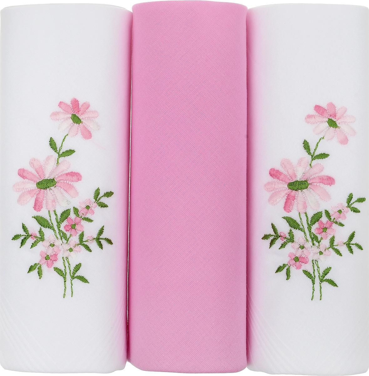 Платок носовой женский Zlata Korunka, цвет: белый, розовый, 3 шт. 25605-18. Размер 30 см х 30 см25605-18Небольшой женский носовой платок Zlata Korunka изготовлен из высококачественного натурального хлопка, благодаря чему приятен в использовании, хорошо стирается, не садится и отлично впитывает влагу. Практичный и изящный носовой платок будет незаменим в повседневной жизни любого современного человека. Такой платок послужит стильным аксессуаром и подчеркнет ваше превосходное чувство вкуса. В комплекте 3 платка.