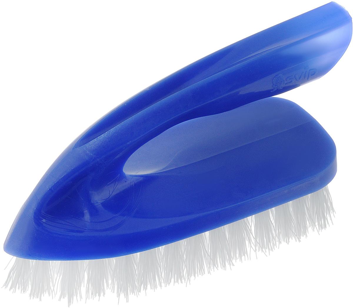 Щетка для одежды Svip Утюжок Мега. Классика, цвет: синий, 14 х 6 х 8,5 смSS 4041Щетка для одежды Svip Утюжок Мега. Классика, изготовлена из высококачественного полипропилена и предназначена для удаления ворсинок, волос, пыли и шерсти животных с различных поверхностей.Щетка имеет удобную ручку, обеспечивающую удобный хват.Щетина средней жесткости не повреждает поверхность.Щетка для одежды Svip Утюжок Мега. Классика станет незаменимым аксессуаром в вашем доме или автомобиле.Длина щетины: 2,5 см, Размер щетки: 14 х 6 х 8,5 см.