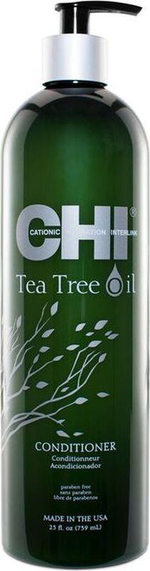 CHI Кондиционер с маслом чайного дерева,355 млFS-00103Кондиционер с маслом чайного дерева. Легкий кондиционер наполняет влагой, питает и освежает волосы