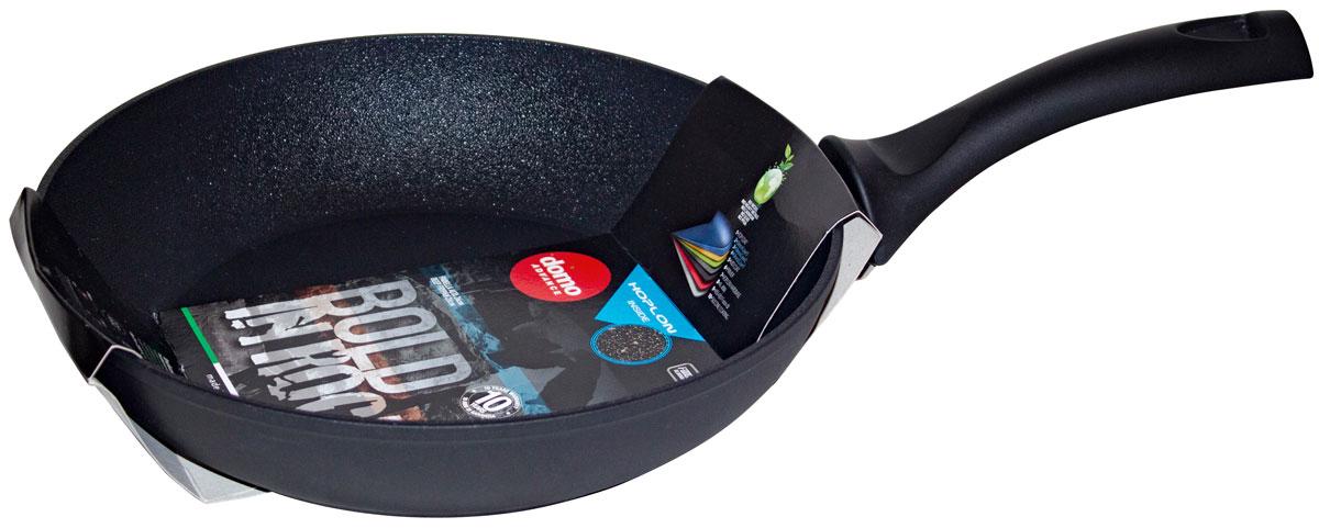 Сковорода Domo Bold in Rock, с антипригарным покрытием, цвет: черный. Диаметр 28 смBB2281Сковорода литая, с антипригарным покрытием, диаметр 26 см