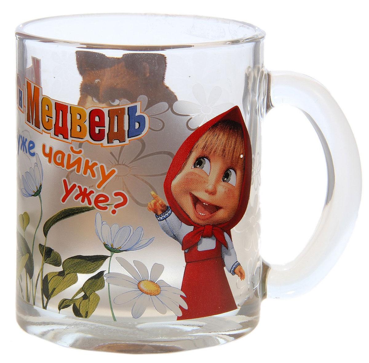 Маша и Медведь Кружка детская Весна 300 мл1208Детская кружка Маша и Медведь Весна с любимыми героями станет отличным подарком для вашего ребенка. Она выполнена из стекла и оформлена изображением героев мультсериала Маша и Медведь. Кружка дополнена удобной ручкой. Такой подарок станет не только приятным, но и практичным сувениром: кружка будет незаменимым атрибутом чаепития, а оригинальное оформление кружки добавит ярких эмоций и хорошего настроения. Можно мыть в посудомоечной машине.