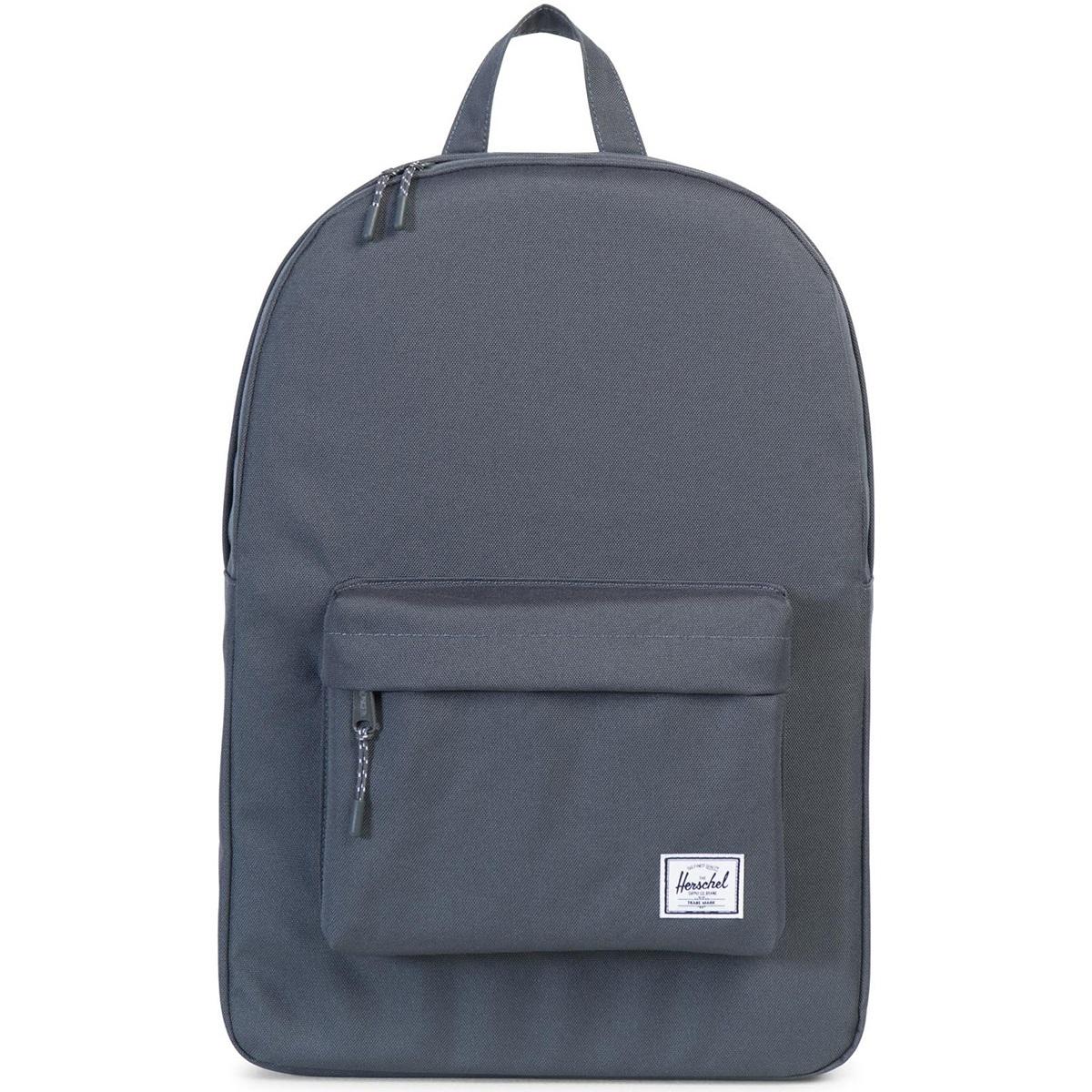 Рюкзак городской Herschel Classic (A/S), цвет: черный. 828432004973828432004973Рюкзак Herschel Classic целиком и полностью оправдывает свое название, выражая совершенство в лаконичных и идеальных линиях. Этот рюкзак создан для любых целей и поездок и отлично впишется в абсолютно любой стиль.