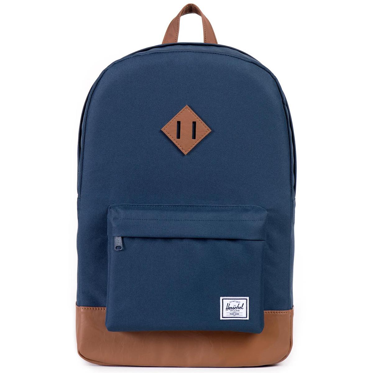 Рюкзак городской Herschel Heritage (A/S), цвет: синий, светло-коричневый. 828432005437828432005437Рюкзак Herschel Heritage ™ это функциональный классический дизайн с особым внимание к деталям.
