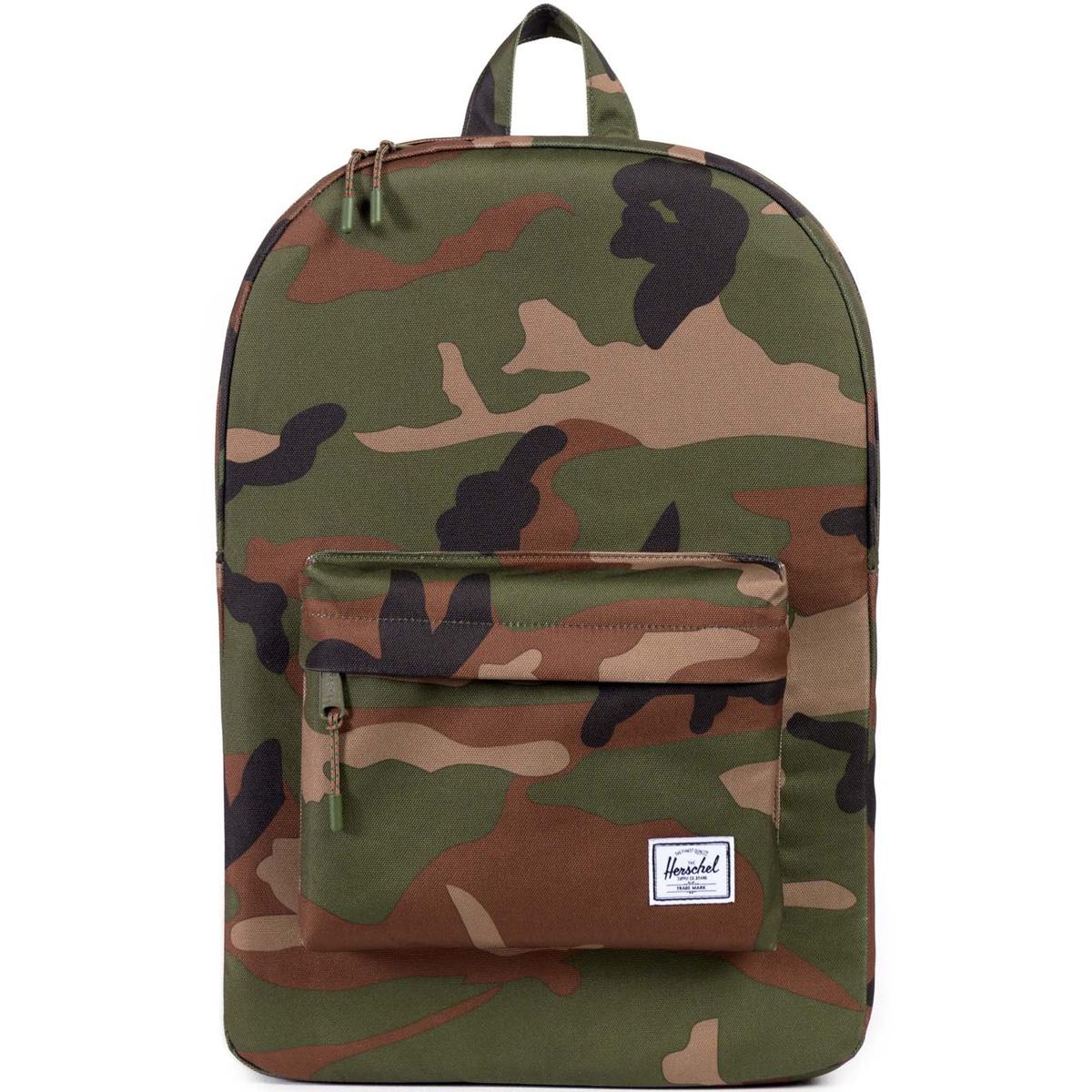 Рюкзак городской Herschel Classic (A/S), цвет: хаки. 828432018512828432018512Рюкзак Herschel Classic целиком и полностью оправдывает свое название, выражая совершенство в лаконичных и идеальных линиях. Этот рюкзак создан для любых целей и поездок и отлично впишется в абсолютно любой стиль.