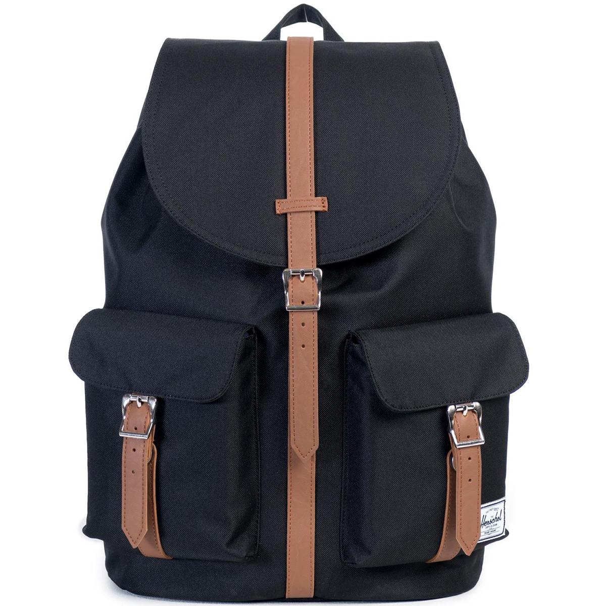 Рюкзак городской Herschel Dawson (A/S), цвет: черный, светло-коричневый. 828432082667828432082667Рюкзак Herschel Dawson ™ функциональный и вместительный, создан для разведки. Удобные внешние карманы.