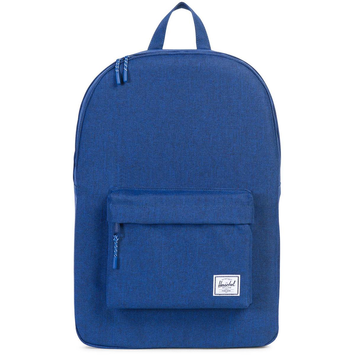 Рюкзак городской Herschel Classic (A/S), цвет: синий. 828432122561K60K602093Рюкзак Herschel Classic целиком и полностью оправдывает свое название, выражая совершенство в лаконичных и идеальных линиях. Этот рюкзак создан для любых целей и поездок и отлично впишется в абсолютно любой стиль.