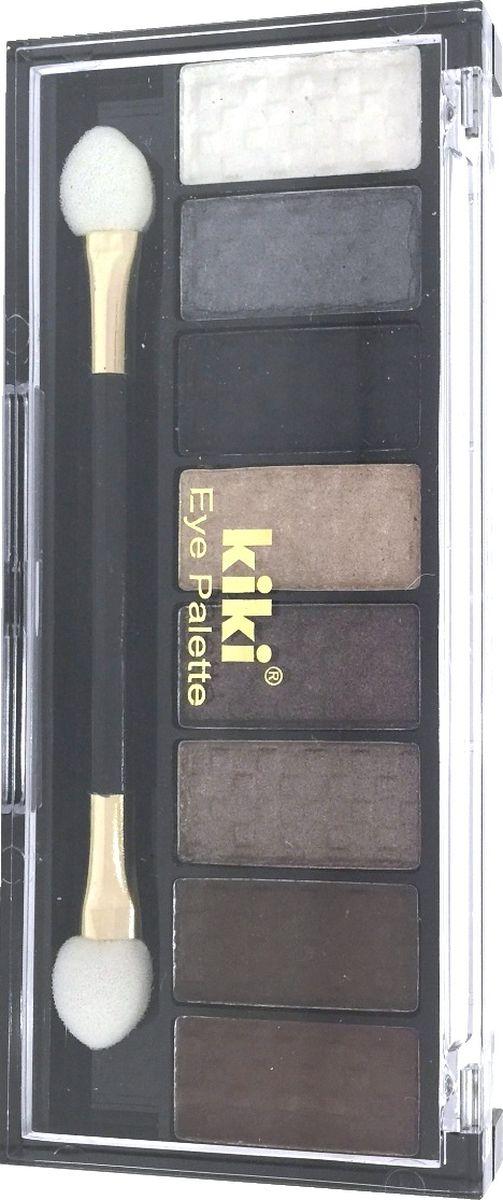 Kiki Тени для век Eye Palette 803, 6.88 гр1301207Восемь гармоничных оттенков в одном наборе позволяют создать самый разнообразный макияж глаз. Исключительно нежная и богатая формула теней KIKI EYE PALETTE позволяет с легкостью придать вашим векам устойчивый насыщенный оттенок с бесподобным блеском. Высокое содержание перламутра в тенях обеспечивает яркий блеск и сияние.