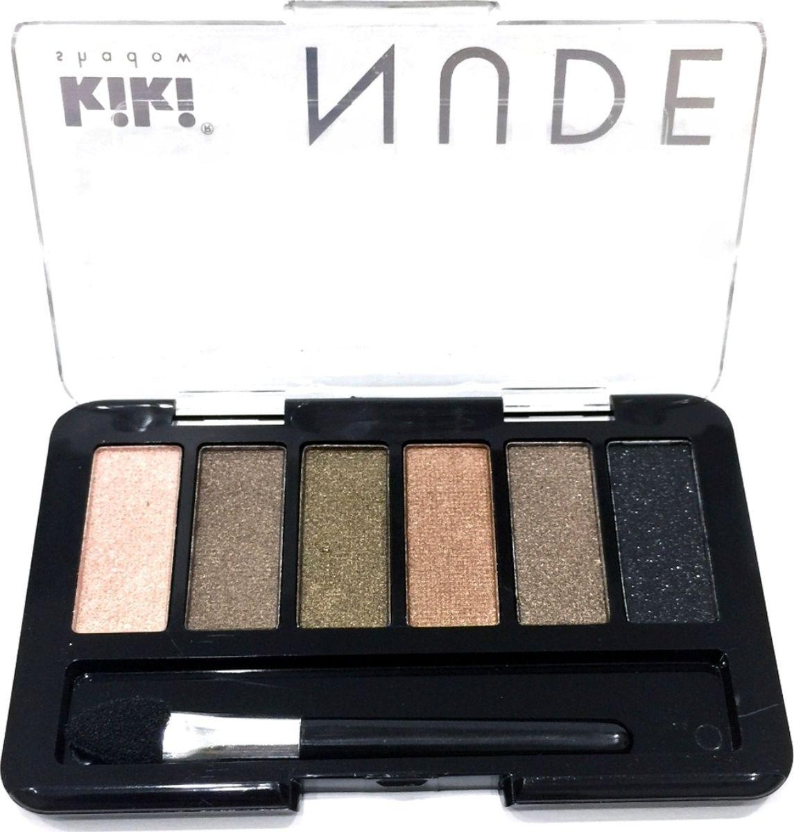 Kiki Тени для век shadow Nude 901, 2.76 гр10909901Шесть идеально подобранных оттенков в нюдовых тонах не оставят вас равнодушными. Тени обладают нежной, хорошо поддающейся растушевке текстурой. Благодаря удобному аппликатору макияж можно создавать буквально на ходу.