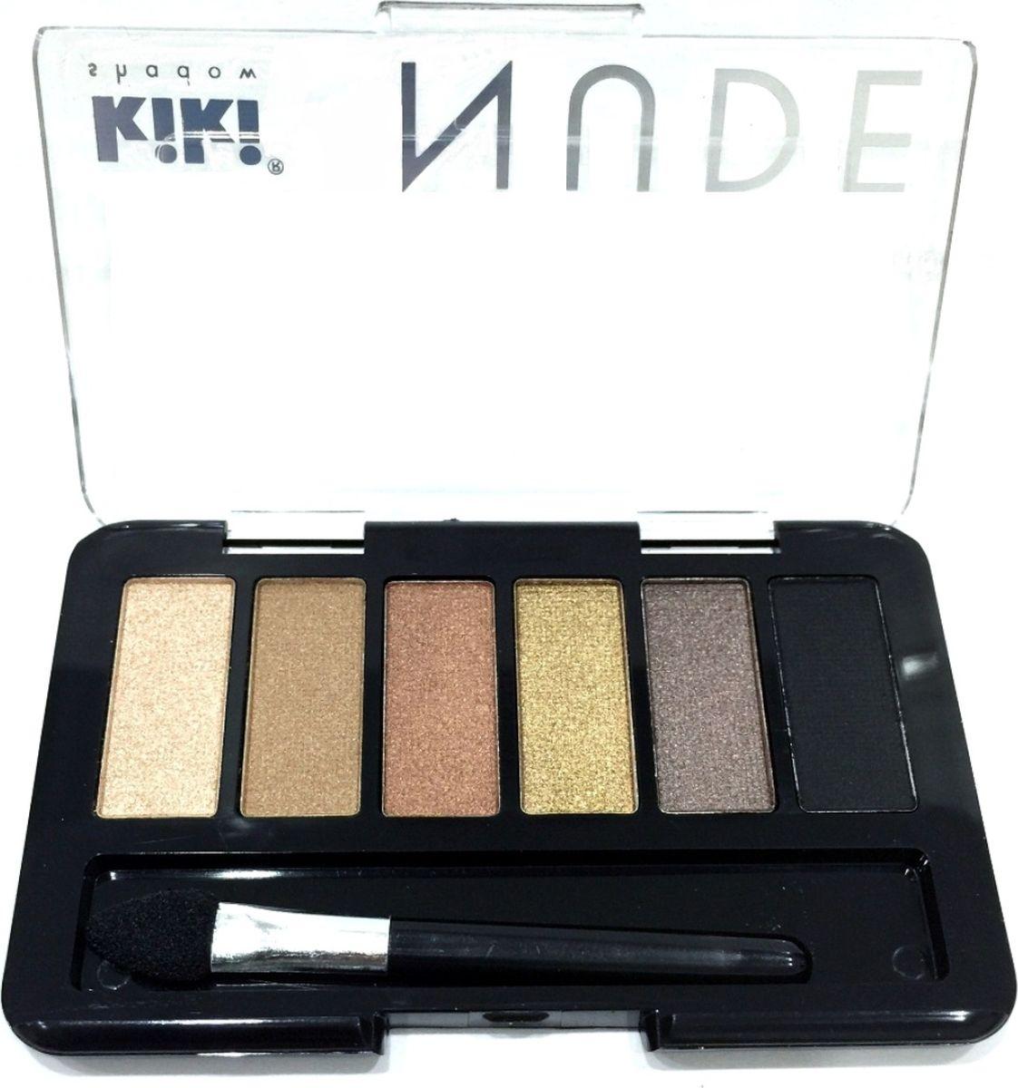Kiki Тени для век shadow Nude 903, 2.76 гр002722Шесть идеально подобранных оттенков в нюдовых тонах не оставят вас равнодушными. Тени обладают нежной, хорошо поддающейся растушевке текстурой. Благодаря удобному аппликатору макияж можно создавать буквально на ходу.