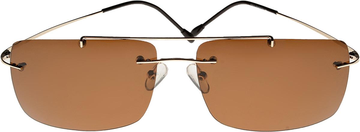 Очки солнцезащитные мужские Vita Pelle, цвет: коричневый. ОСP5017с5/17fFM-849-TRОчки солнцезащитные Vita Pelle это знаменитое итальянское качество и традиционно изысканный дизайн.