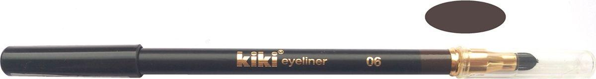Kiki Карандаш для глаз с аппликатором 06, 1.3 гр11104006Мягкая текстура создает идеальный контур глаз. Создает на коже четкую и стойкую линию. Плотные, насыщенные оттенки. Мягкий, удобный аппликатор позволяет растушевывать и создавать полутона.