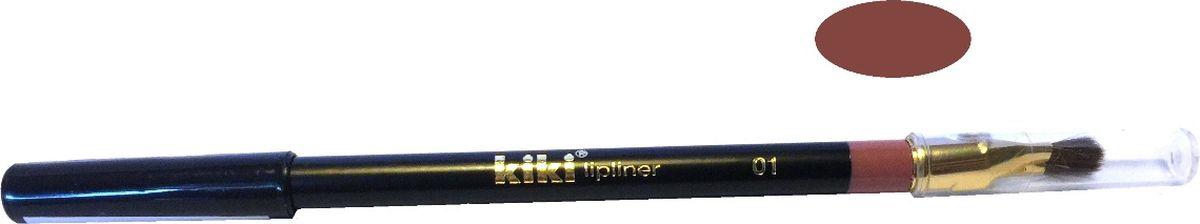 Kiki Карандаш для губ с кисточкой 01, 1.3 гр11501001Нежная текстура создает идеальный контур. Предохраняет помаду от растекания. Мягкая, удобная кисточка позволяет нанести помаду тонким и аккуратным слоем.