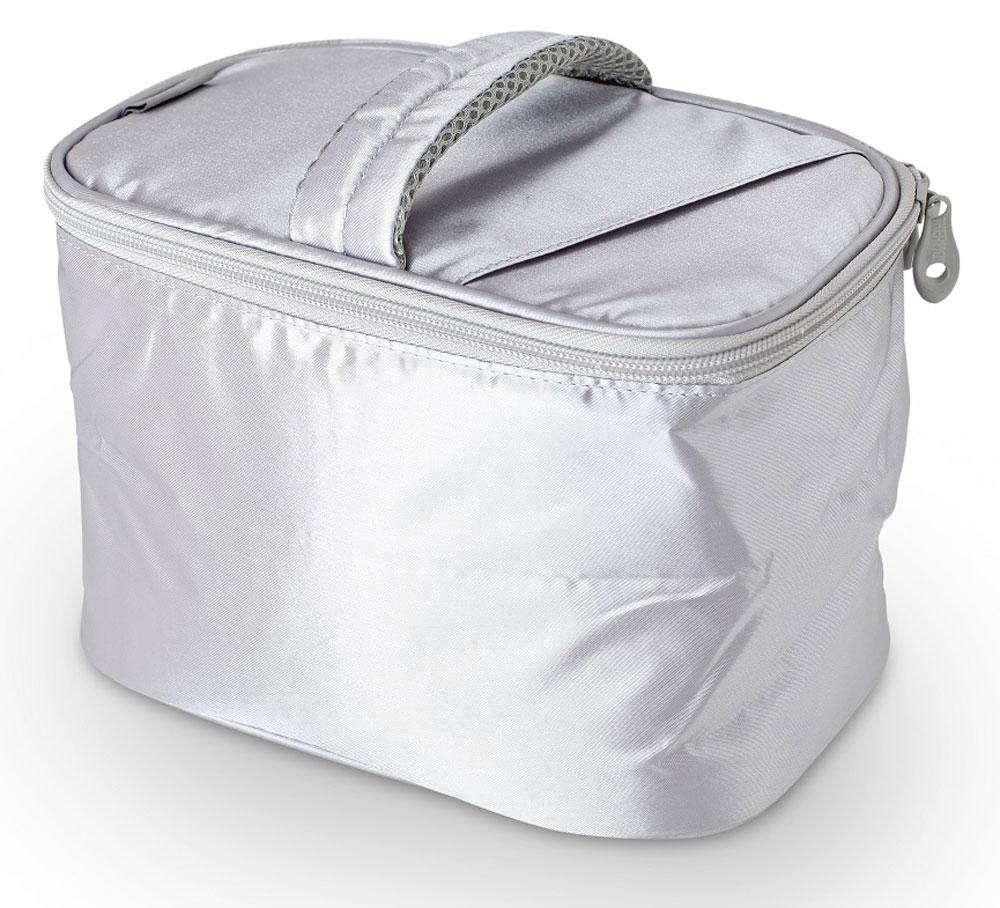 Термосумка Thermos Beauty Kit, цвет: серебряный, 6,5 л468963Способна вместить довольно большой объем кремов , мазей, медикаментов и других препаратов, не предназначенных для хранения в тепле. По желанию, для усиления охлаждающего эффекта возможно применение замороженных аккумуляторов температуры THERMOS Gel Pack™.