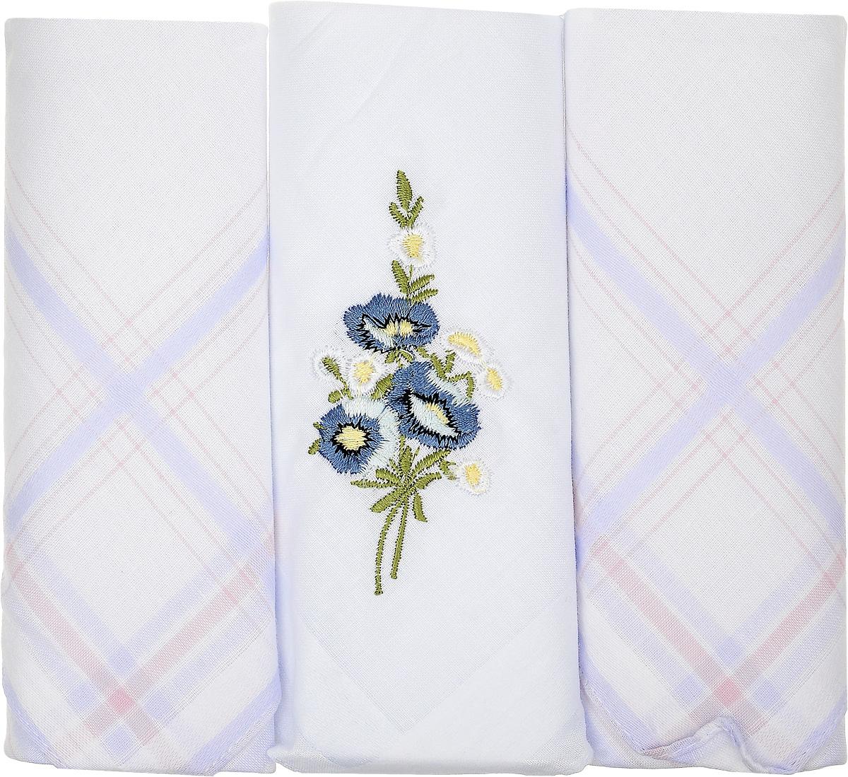 Платок носовой женский Zlata Korunka, цвет: белый, 3 шт. 90329-41. Размер 29 см х 29 см90329-41Небольшой женский носовой платок Zlata Korunka изготовлен из высококачественного натурального хлопка, благодаря чему приятен в использовании, хорошо стирается, не садится и отлично впитывает влагу. Практичный и изящный носовой платок будет незаменим в повседневной жизни любого современного человека. Такой платок послужит стильным аксессуаром и подчеркнет ваше превосходное чувство вкуса. В комплекте 3 платка.