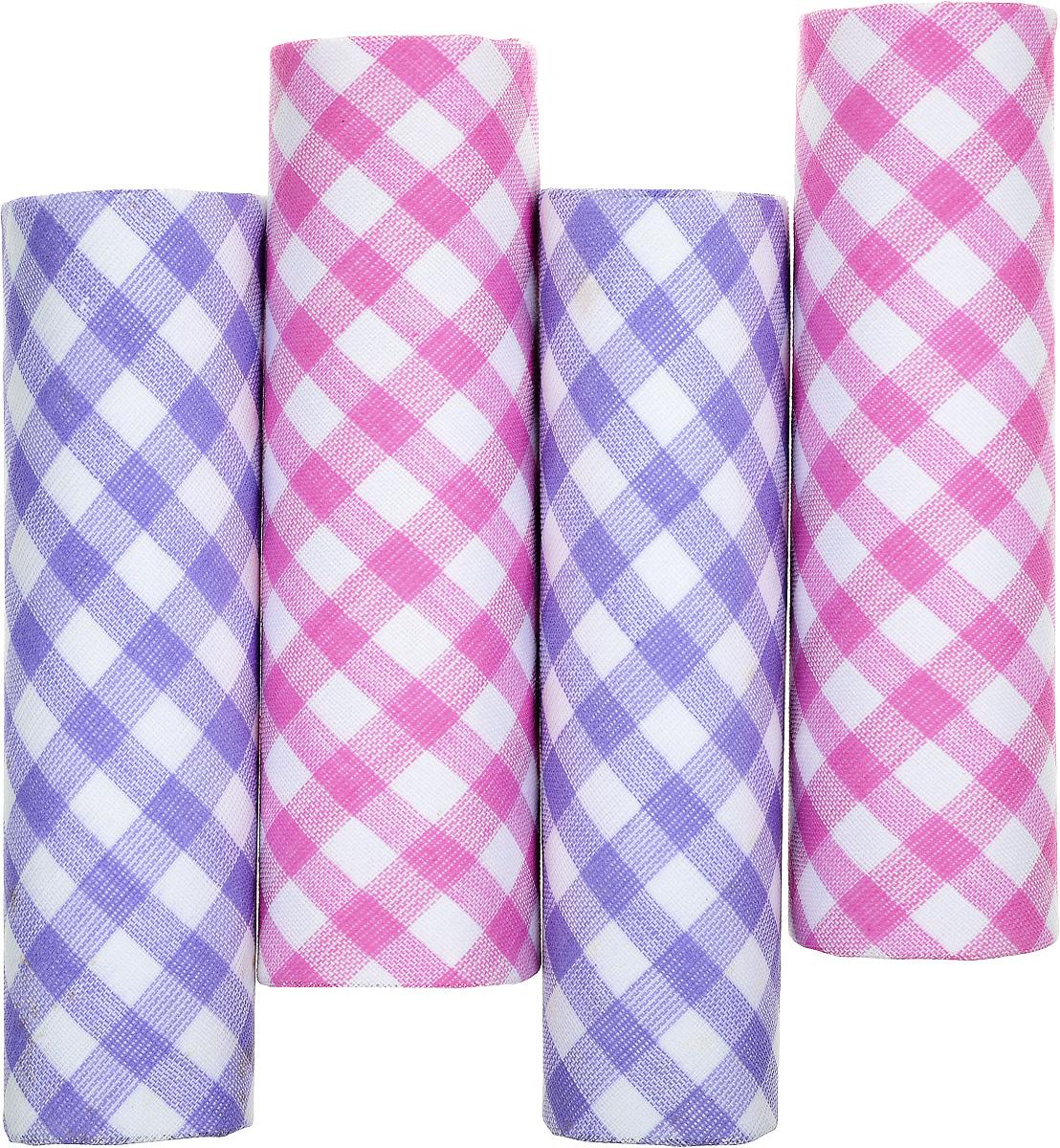 Платок носовой женский Zlata Korunka, цвет: белый, розовый, сиреневый. 71420-2. Размер 29 х 29 см, 4 штСерьги с подвескамиНосовой платок Zlata Korunka изготовлен из высококачественного натурального хлопка, благодаря чему приятен в использовании, хорошо стирается, не садится и отлично впитывает влагу. Практичный и изящный носовой платок будет незаменим в повседневной жизни любого современного человека. Такой платок послужит стильным аксессуаром и подчеркнет ваше превосходное чувство вкуса.В комплекте 4 платка.
