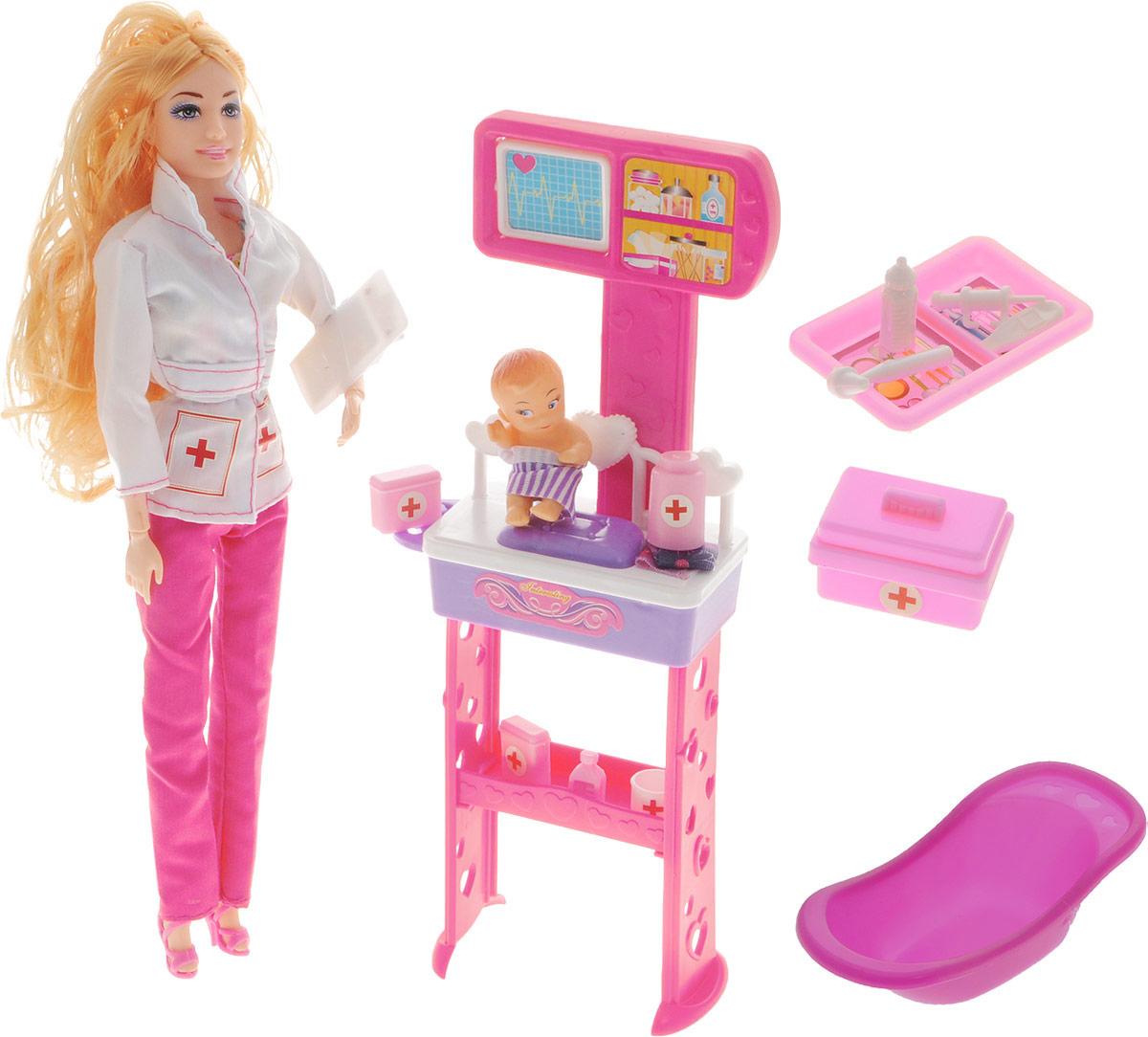 Veld-Co Игровой набор с куклой блондинкой Детская поликлиника veld co бубен и металлофон