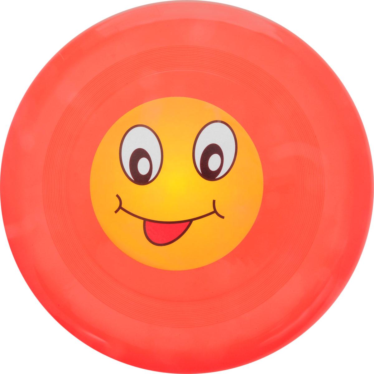 Veld-Co Летающая тарелка Смайл цвет красный диаметр 24 см