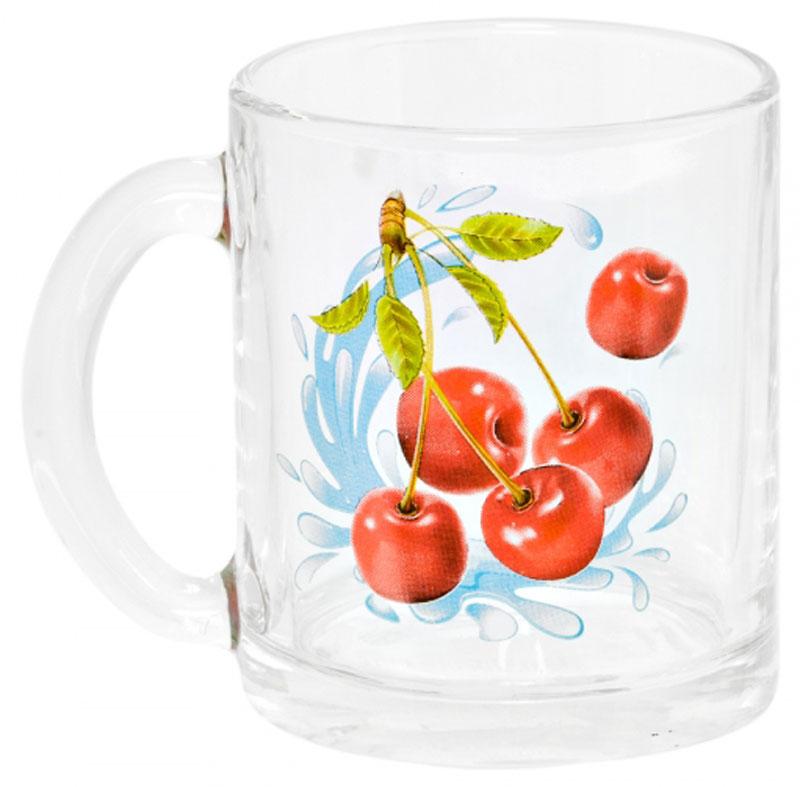 Кружка OSZ Чайная. Черешня, 320 мл04C1208-CHKКружка ЧАЙНАЯ ЧЕРЕШНЯ К 320мл.Изготовлено из стекла.
