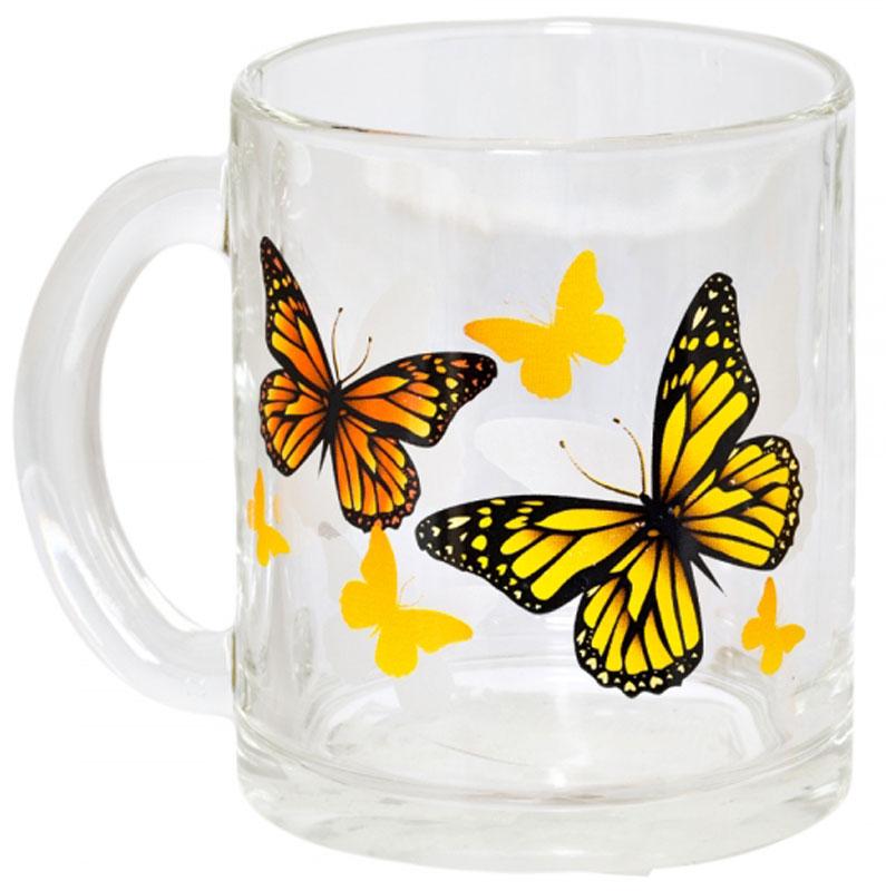 Кружка OSZ Чайная. Желтые бабочки, 320 мл04C1208-ZHBКружка ЧАЙНАЯ ЖЕЛТЫЕ БАБОЧКИ 320мл.Изготовлено из стекла.