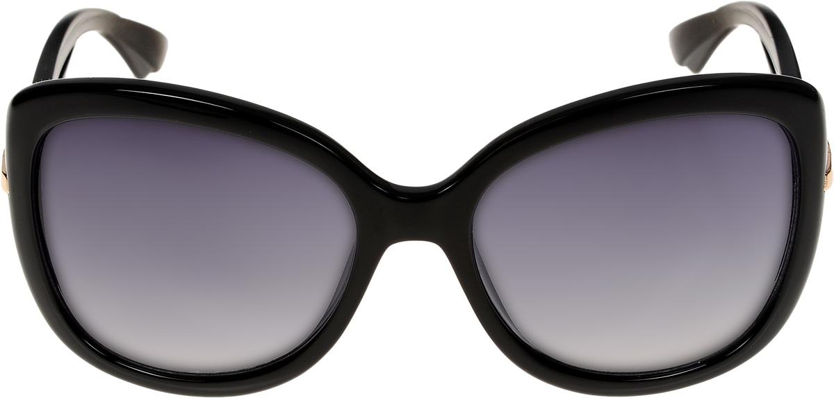 Очки солнцезащитные женские Vittorio Richi, цвет: черный. ОС4154c10-637-1/17fTL-49-PGОчки солнцезащитные Vittorio Richi это знаменитое итальянское качество и традиционно изысканный дизайн.