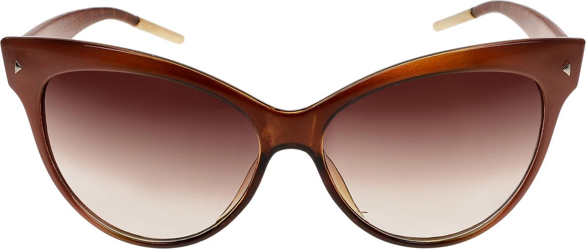Очки солнцезащитные женские Vittorio Richi, цвет: коричневый. ОС1991c3/17f632.067.02 D.BrownОчки солнцезащитные Vittorio Richi это знаменитое итальянское качество и традиционно изысканный дизайн.