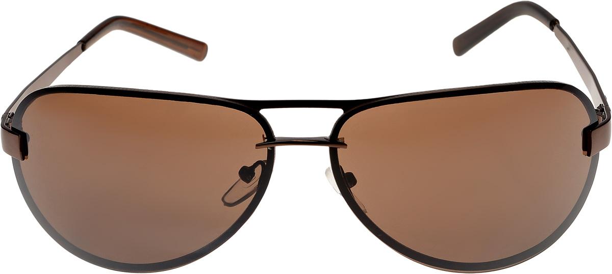 Очки солнцезащитные мужские Vittorio Richi, цвет: коричневый. ОС13005/17fBM8434-58AEОчки солнцезащитные Vittorio Richi это знаменитое итальянское качество и традиционно изысканный дизайн.