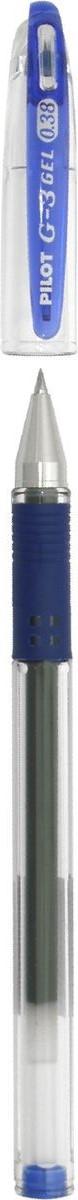 Pilot Ручка гелевая G-3 цвет чернил синий610842Переворот среди гелевых ручек!Pilot G3 - это серия, выпущенная специально для любителей тонкого письма. Все ручки этой серии имеют особо тонкий пишущий механизм, снабженный шариком из карбида вольфрама, диаметром всего 0,38 мм. Равномерная подача чернил и удобный прорезиненный упор для пальцев делают письмо легким и плавным, без усилий, оставляя на бумаге линию толщиной всего 0,2 мм.Ручка имеет прорезиненный упор в цвет чернил, съемный колпачок.