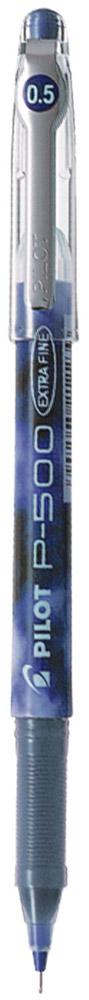 Pilot Ручка гелевая P-500 цвет чернил синийBL-P50-LОдноразовая гелевая ручка с игольчатым пишущим узлом. Увеличенный резервуар для чернил делает срок службы ручки Pilot P-500 намного дольше, чем у аналогов со сменным типом стержней, а равномерная подача чернил обеспечивает легкое и плавное письмо. Яркие и контрастные чернила быстро высыхают и не размазываются. Захват ручки имеет рифленую зону для удобного сцепления с пальцами руки. Для большей надежности клипса на колпачке выполнена из металла. Цвет корпуса соответствует цвету чернил.
