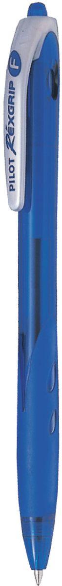 Pilot Ручка шариковая Rexgrip цвет чернил синий 0,5 мм72523WDАвтоматическая шариковая ручка с интегрированным в корпус прорезиненным захватом для пальцев. Чернила на масляной основе для мягкого и легкого письма. Наконечник стержня изготовлен из нержавеющей стали, а шарик - из карбида вольфрама. Пластиковый корпус тонирован в цвет чернил ручки.