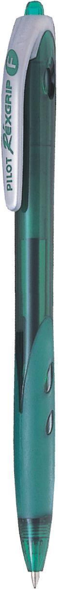 Pilot Ручка шариковая Rexgrip цвет чернил зеленый 0,7 мм72523WDАвтоматическая шариковая ручка с интегрированным в корпус прорезиненным захватом для пальцев. Чернила на масляной основе для мягкого и легкого письма. Наконечник стержня изготовлен из нержавеющей стали, а шарик - из карбида вольфрама. Пластиковый корпус тонирован в цвет чернил ручки.