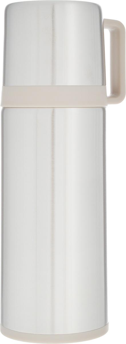 Термос Tescoma Constant, с крышкой-кружкой, цвет: серебристый, бежевый, 300 мл318570Термос Tescoma Constant предназначен для хранения теплых и холодных напитков на длительное время. Изделие изготовлено из пластика и высококачественной нержавеющей стали с двойной колбой. Пробка плотно закручивается, а благодаря вакуумной кнопке внутри создается абсолютная герметичность, что предотвращает проливание напитков. Термос оснащен завинчивающейся крышкой, которая может выполнять функцию кружки с ручкой. Нельзя мыть в посудомоечной машине. Диаметр горлышка по верхнему краю: 4,5 см. Диаметр основания: 7 см. Высота термоса: 21 см. Диаметр чашки по верхнему краю: 5,5 см. Высота стенки чашки: 6,5 см. Объем крышки-кружки: 150 мл.