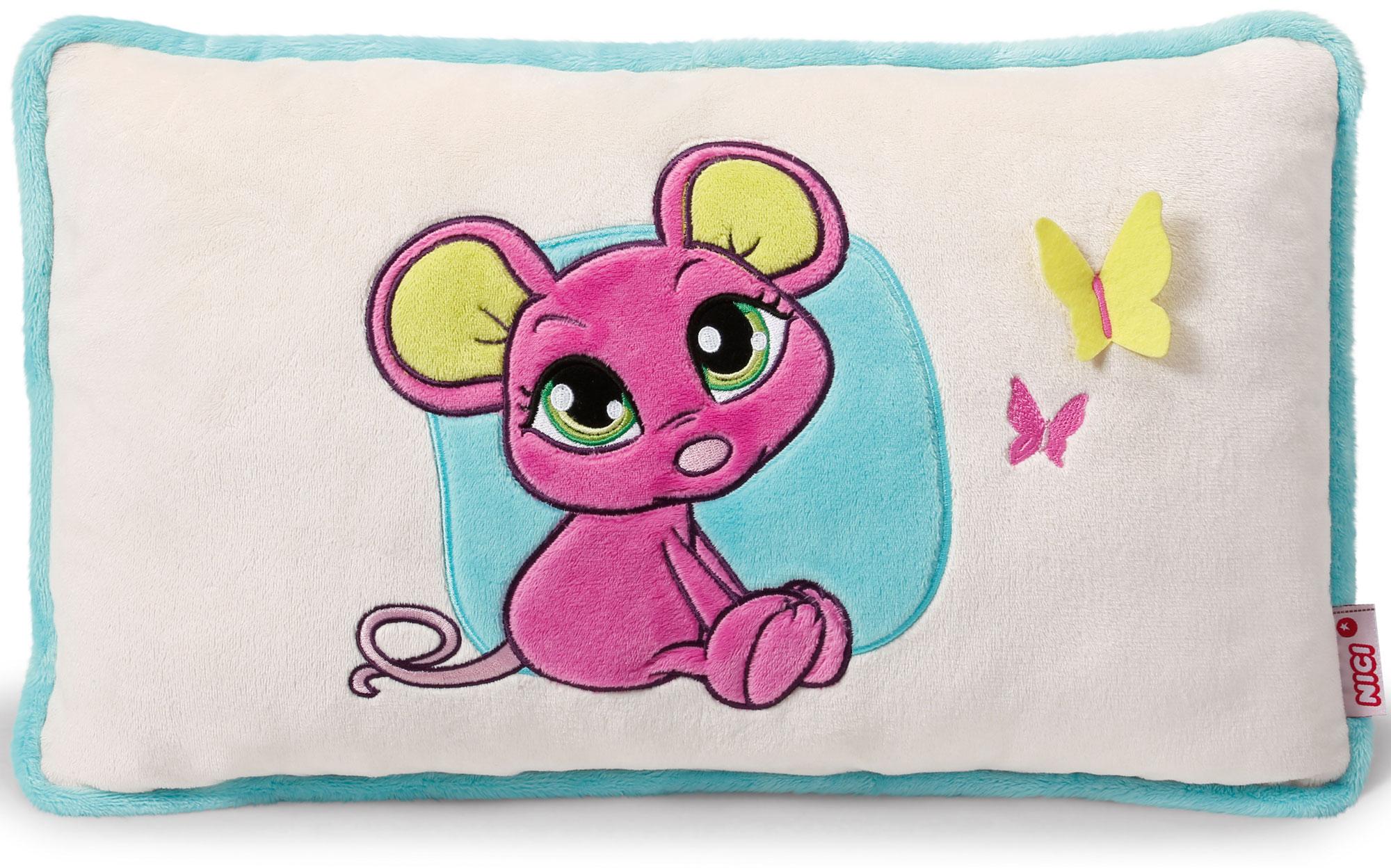 Nici Подушка Мышка розовая 43 х 25 см