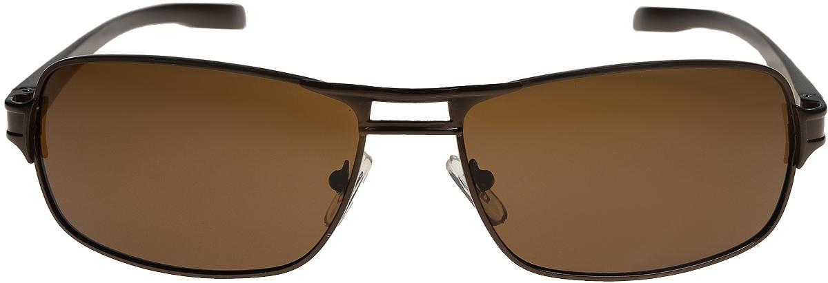 Очки солнцезащитные мужские Vittorio Richi, цвет: коричневый. ОС80052-6/17fINT-06501Очки солнцезащитные Vittorio Richi это знаменитое итальянское качество и традиционно изысканный дизайн.