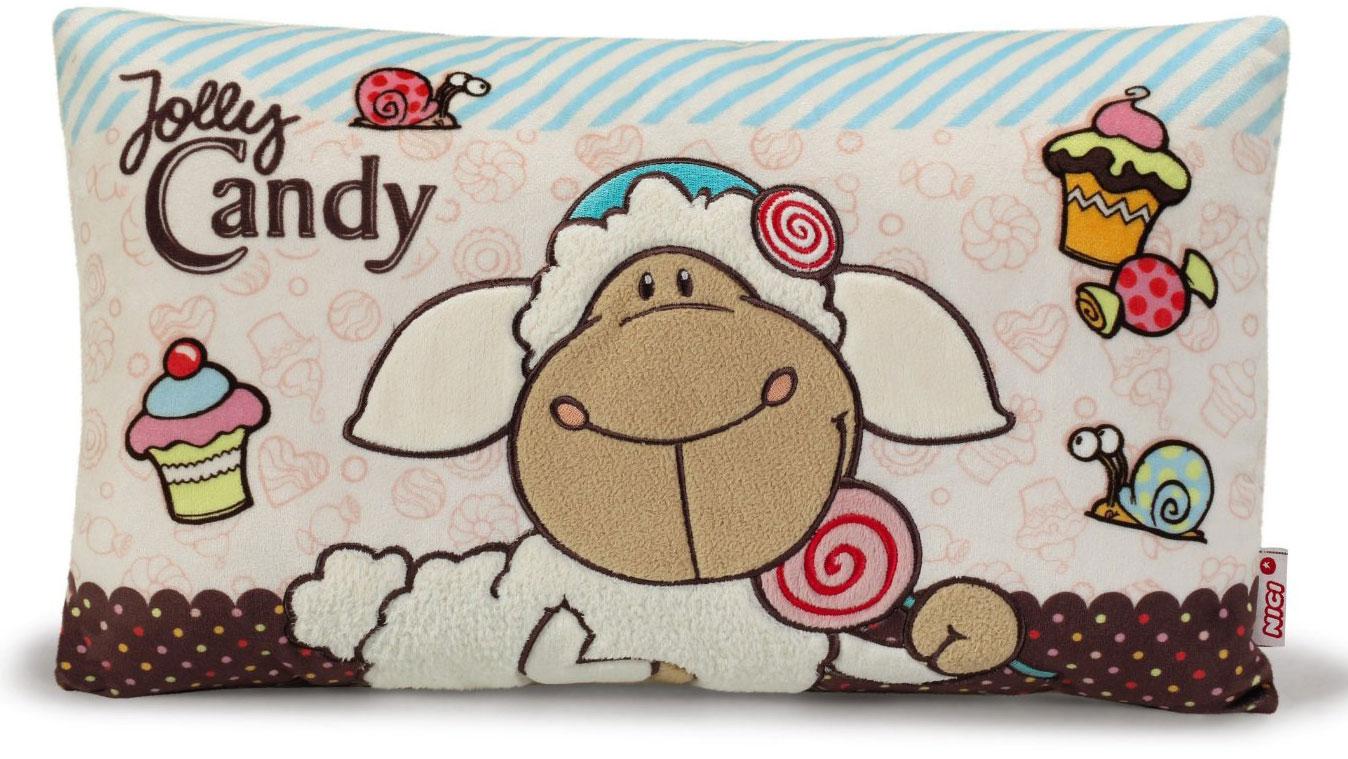 Nici Подушка Овечка Кэнди цвет бежевый коричневый 43 х 25 см37812Мягкая подушка Nici Овечка Кэнди не оставит равнодушным вашего ребенка. Мягкая и приятная на ощупь подушка прямоугольной формы выполнена из полиэстера с мягкой набивкой и оформлена вышитой аппликацией в виде симпатичной овечки по имени Кэнди. Подушка удивительно приятна на ощупь. Необычайно мягкая, она принесет радость и подарит своему обладателю мгновения нежных объятий и приятных воспоминаний. Такая подушка станет отличным аксессуаром для детской комнаты.