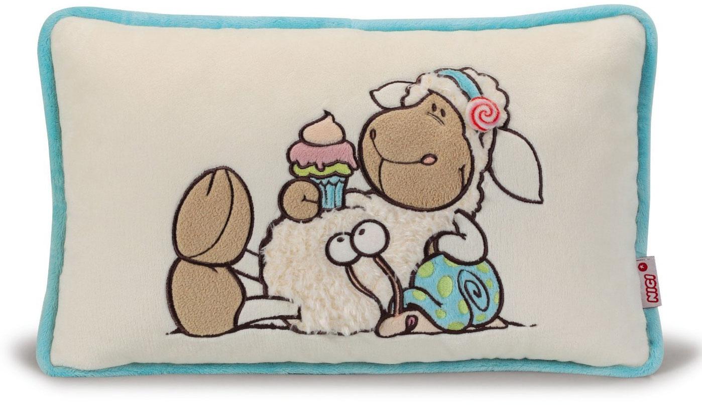 Nici Подушка Овечка Кэнди 43 х 25 см37811Мягкая подушка Nici Овечка Кэнди не оставит равнодушным вашего ребенка. Мягкая и приятная на ощупь подушка прямоугольной формы выполнена из полиэстера с мягкой набивкой и оформлена вышитой аппликацией в виде симпатичной овечки по имени Кэнди. Подушка удивительно приятна на ощупь. Необычайно мягкая, она принесет радость и подарит своему обладателю мгновения нежных объятий и приятных воспоминаний. Такая подушка станет отличным аксессуаром для детской комнаты.