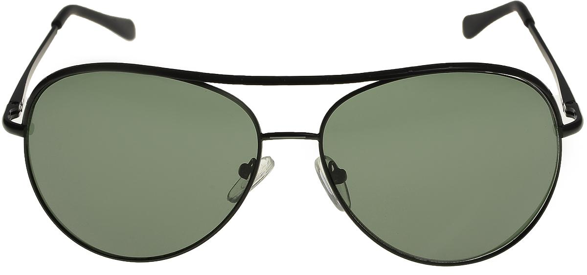 Очки солнцезащитные мужские Vittorio Richi, цвет: черный, зеленый. ОС80034-0/17fBM8434-58AEОчки солнцезащитные Vittorio Richi это знаменитое итальянское качество и традиционно изысканный дизайн.