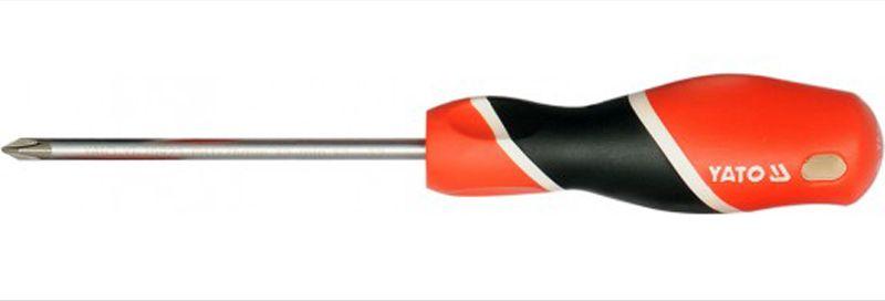 Отвертка Yato, крестовая, РН2х200 мм крестовая отвертка santool 3х200 антискользящая ручка 031410 203 200