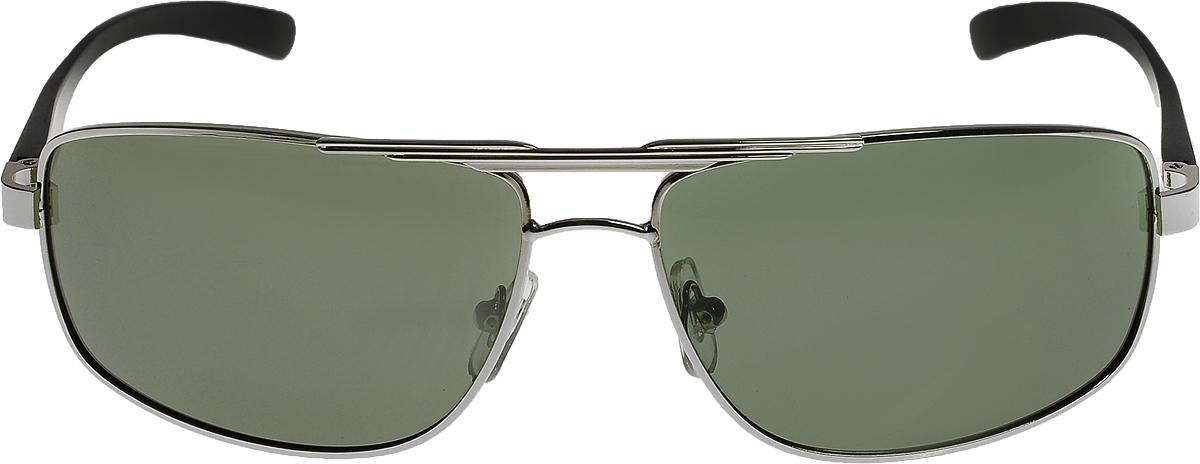 Очки солнцезащитные мужские Vittorio Richi, цвет: зеленый, серебристый. ОС80053-1/17fFM-849-TRОчки солнцезащитные Vittorio Richi это знаменитое итальянское качество и традиционно изысканный дизайн.