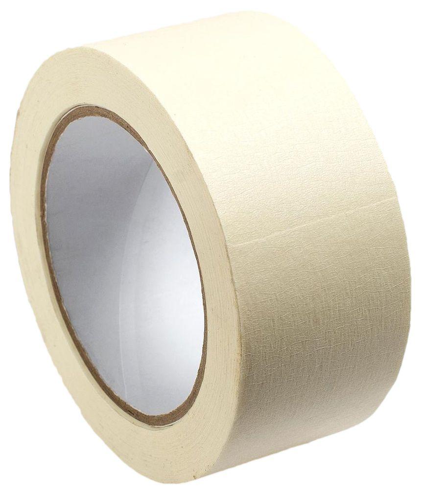 Малярная лента MasterProf, цвет: белый, 48 мм х 25 мHS.070021Применяется для малярных работ внутри помещений, при облицовке плиткой, при установке дверей, при покраске автомобилей, при установке различных уголков, включая перфорированные уголки для гипсокартона, и декоративные наружные уголки для плитки.