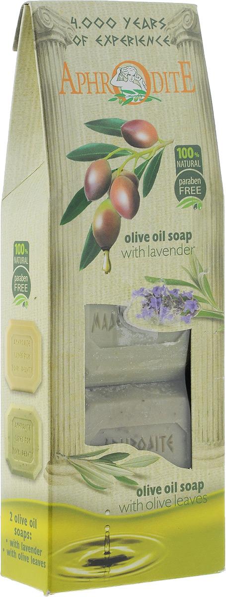 Aphrodite Мыло оливковое в наборе (лаванда & розмарин), 220 гZ-4-ВПодарок для друзей, близких и для себя.