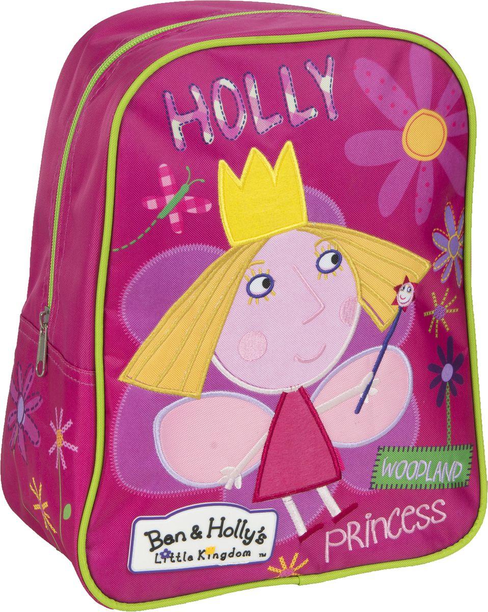 Ben&Holly Рюкзак дошкольный цвет розовый мультиколор31688Дошкольный рюкзачок для девочки Ben&Holly имеет стильный дизайн, компактный размер и легкий вес, а в его вместительном внутреннем отделении на молнии легко поместятся все необходимые вещи, в том числе предметы формата А4. Поэтому он оптимально подойдет вашему ребенку для прогулок, занятий в кружке или спортивной секции. Мягкие регулируемые лямки шириной 6 см берегут плечи от натирания, а светоотражающие элементы, размещенные на них, повышают безопасность ребенка, делая его заметнее на дороге в темное время суток. Удобная ручка помогает носить аксессуар в руке или размещать на вешалке. Износостойкий материал с водонепроницаемой основой и подкладка обеспечивают изделию длительный срок службы и помогают держать вещи сухими в дождливую погоду. Рюкзачок декорирован вышивкой и ярким принтом (сублимированной печатью), устойчивым к истиранию и выгоранию на солнце.