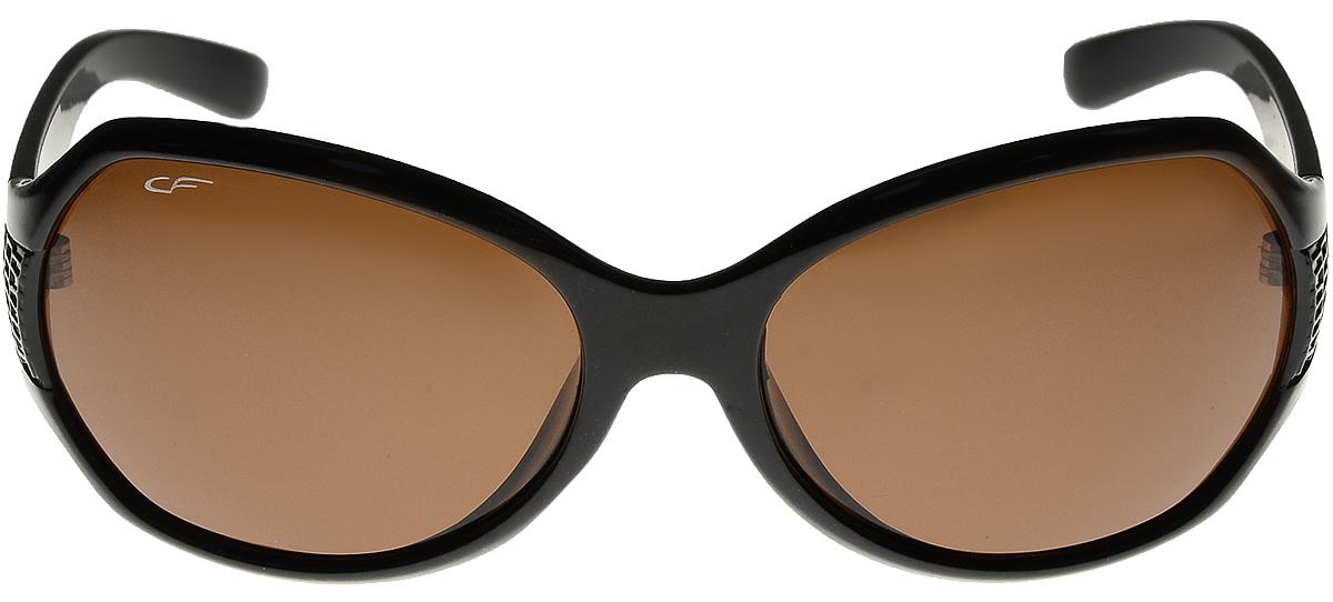 Очки солнцезащитные женские Cafa France, цвет: черный. CF1134CF1134Очки Cafa France - это стильный аксессуар, незаменимый для всех водителей. Очки водителя Cafa France представлены в двух типах линз, которые обеспечивают максимальный комфорт при вождении в любое время суток и в любую погоду. Очки с желтыми линзами уменьшают ослепление от фар встречных автомобилей и защищают от бликов. В снег, дождь, туман, и даже ночью и в сумерках вы можете быть уверены, что изображение останется четкими и контрастными. Создаваемый эффект солнца способствует улучшению настроения, а также снижает утомляемость и сонливость. Очки с темными линзами Cafa France гарантируют 100% защиту от УФ-лучей, а также защищают от бликов и отраженного света, что существенно снижает риск ДТП. В отличие от обычных солнцезащитных очков, очки водителя Cafa France обладают оптимальной степенью затемнения, благодаря чему обеспечивается идеальный обзор дороги. Очки водителя Cafa France имеют самую высокую эффективность поляризации - 99,9% (видимость без бликов), линзы, состоят из...